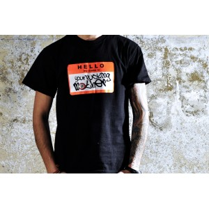 CAMISETA YOUR FUCKING MOTHER NEGRO/NARANJA FLUOR
