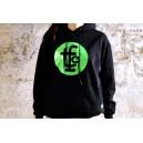 HOODIE TFC BLACK/FLUOR GREEN