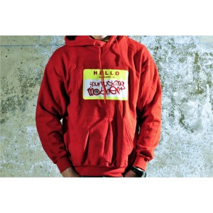 SUDADERA YOUR FUCKIG MOTHER ROJA/AMARILLO FLUOR