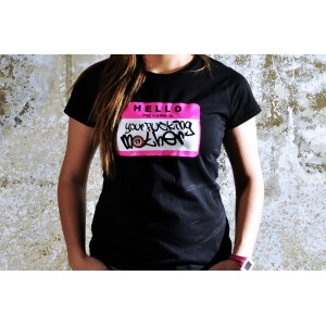 TSHIRT YOUR FUCKING MOTHER BLACK/FLUOR PINK