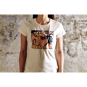 GIRL TSHIRT OH! YES ORGANIC WHITE