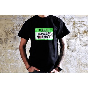 TSHIRT YOUR FUCKING MOTHER BLACK/FLUOR GREEN FLUOR