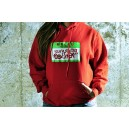 HOODIE YOUR FUCKIG MOTHER RED/FLUOR GREEN