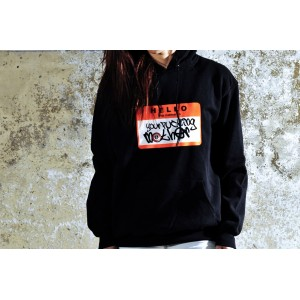 SUDADERA YOUR FUCKIG MOTHER NEGRO/NARANJA FLUOR