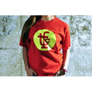 TSHIRT TFC RED/NEON YELLOW